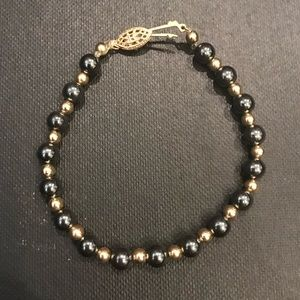Jewelry - Black and Gold Beaded Bracelet